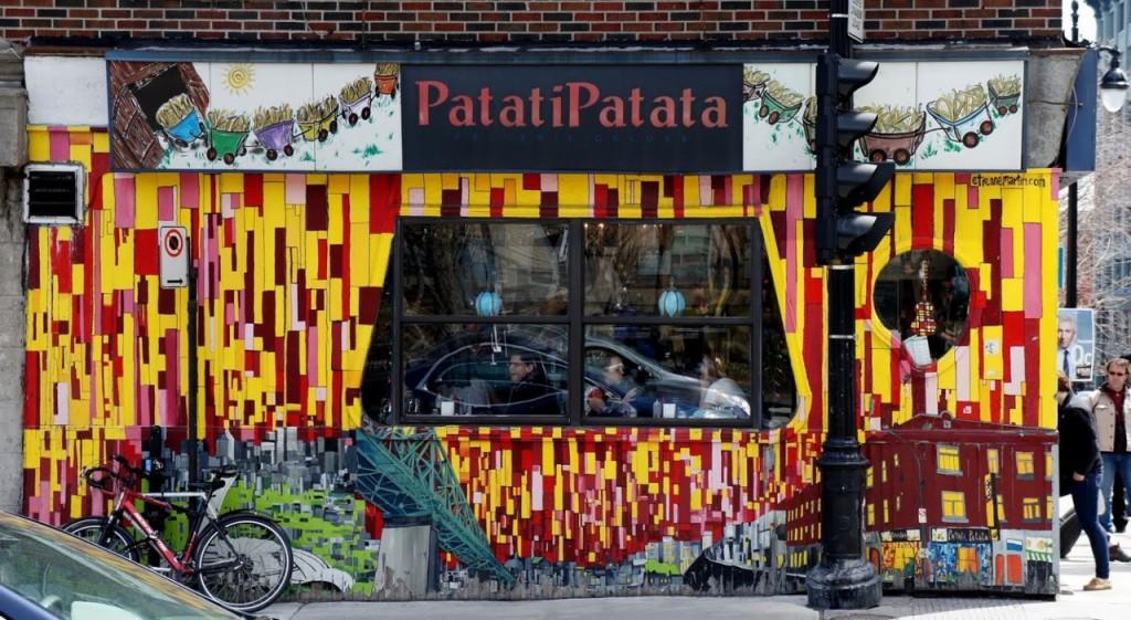 Facade of Patati Patata poutinerie