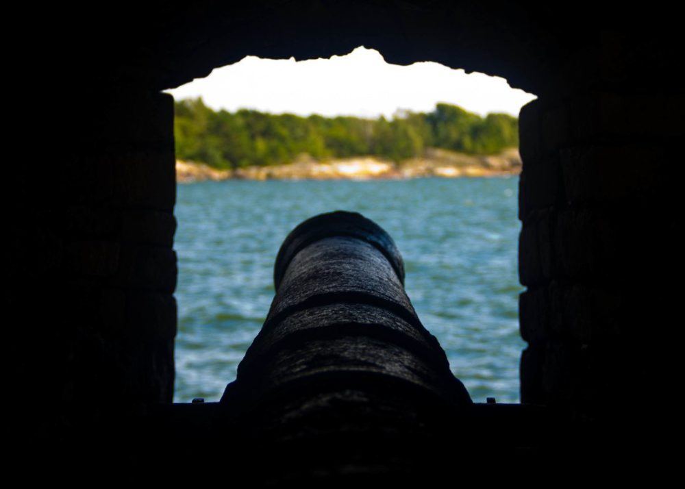 Cannon at Suomenlinna Sea Fortress - Things to Do in Helsinki, Finland