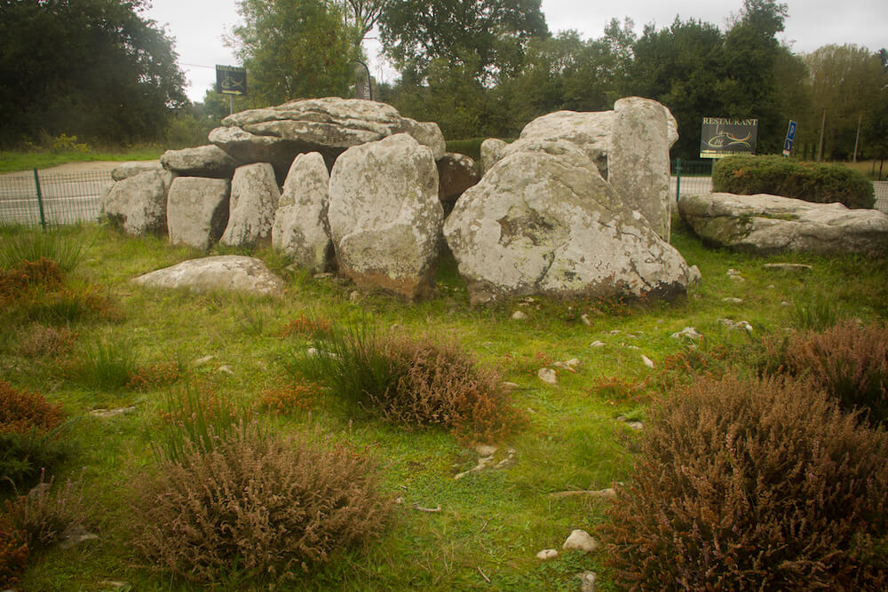 Circle of standing stones at Les Alignements de Carnac