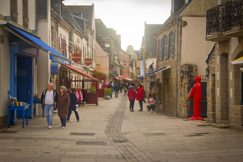 Central street on the Walled City of Concarneau
